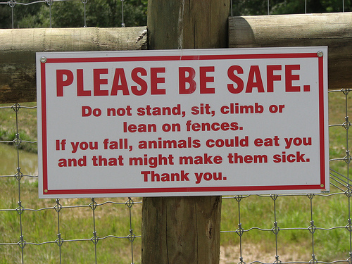 please-be-safe-sign