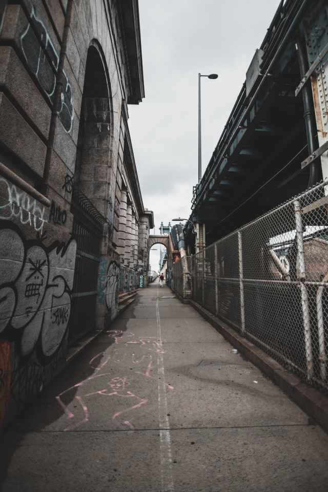 photo of graffiti wall alley