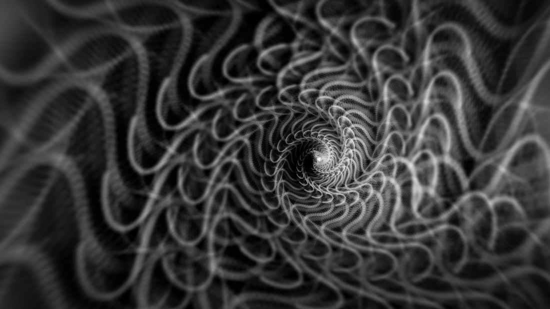 spiral design on cloth